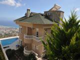 Satılık Müstakil villa Alanya Bektaş, kale deniz manzaralı